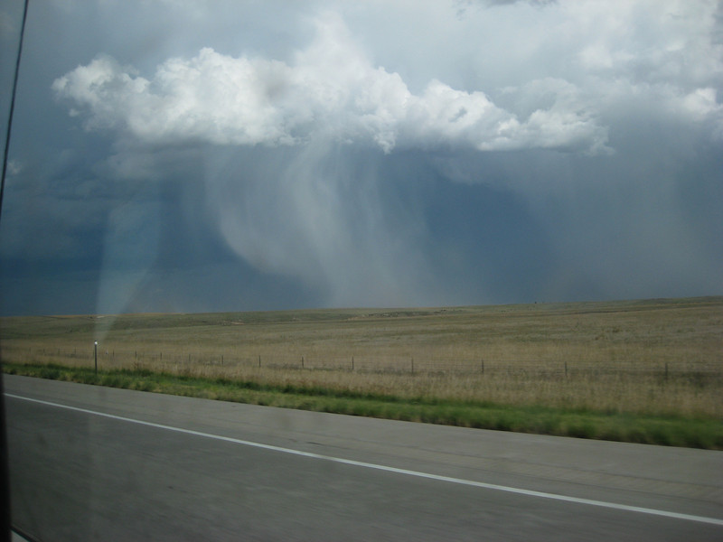 Thunderstorm while heading west from Limon on I-70