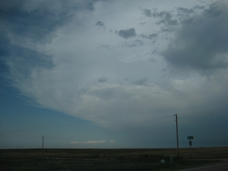 Driving into hail and tornadic system