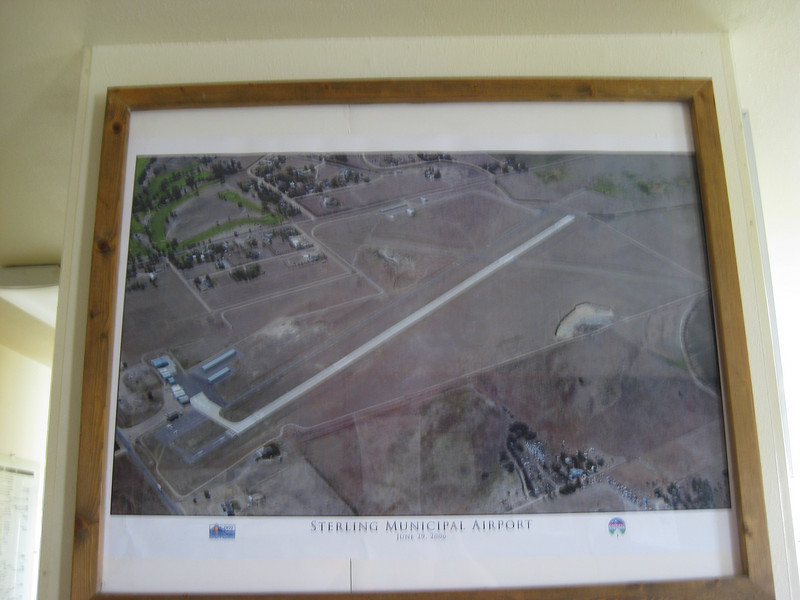 GPS Field Campaign, Rio Grande Rift Project, Eastern Colorado, July 2008<br /> <br /> Sterling Airport map