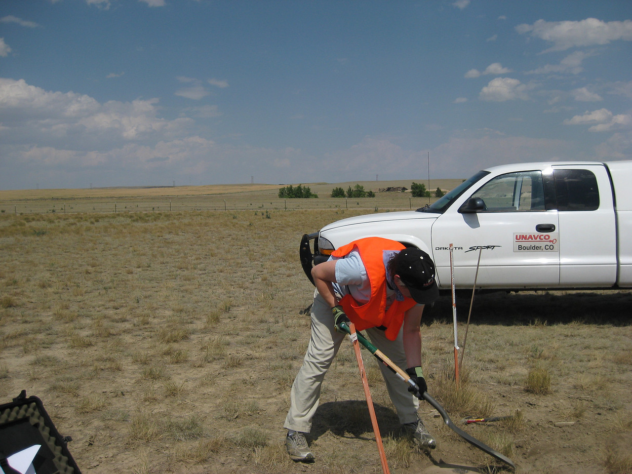 GPS Field Campaign, Rio Grande Rift Project, Eastern Colorado, July 2008<br /> <br /> Limon Airport 39.2684, -103.664<br /> <br /> Looking East