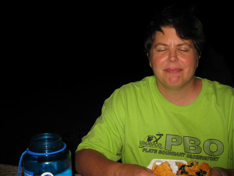 Late night dinner at the campsite (Bonny State Park)
