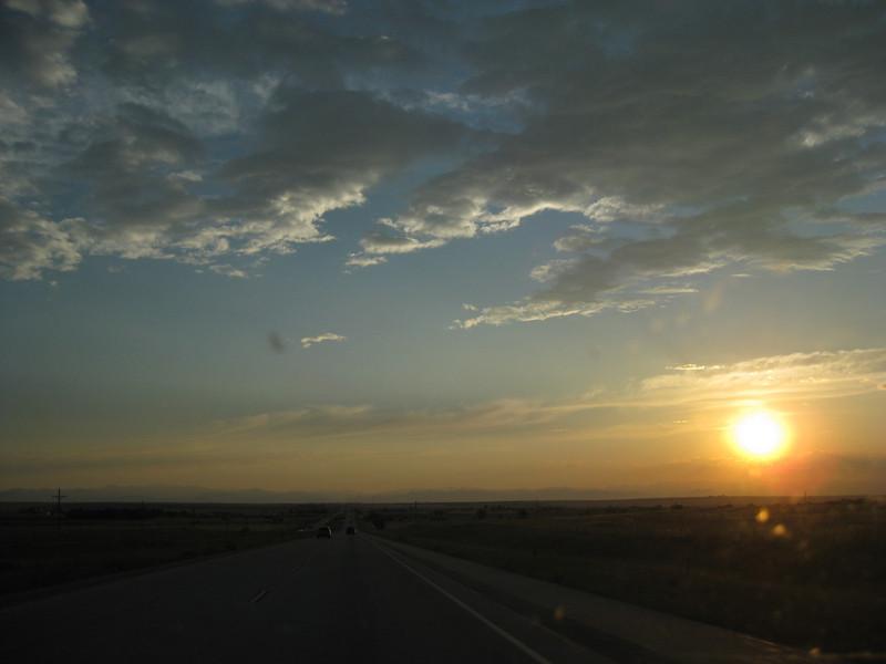 Heading west Heading west along I-70