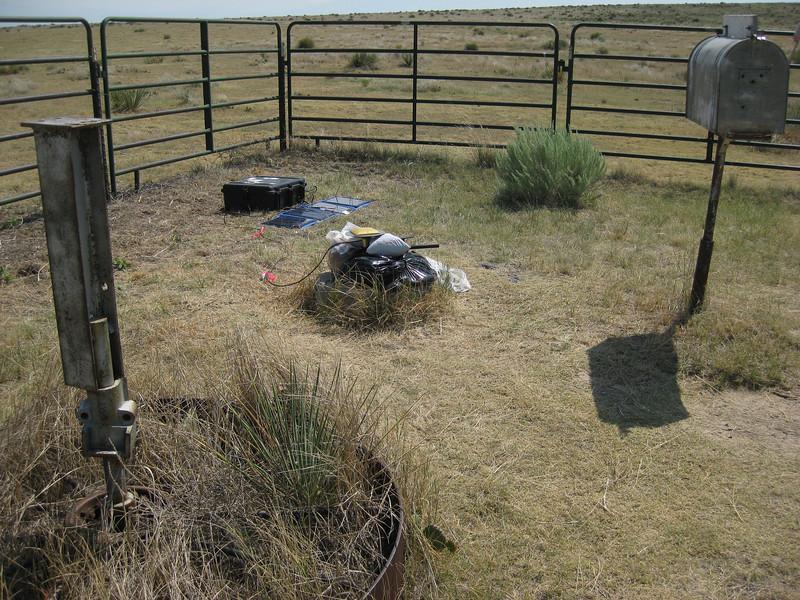 GPS Field Campaign, Rio Grande Rift Project, Eastern Colorado, July 2008<br /> <br /> Dat 2 set up Tri-corner site