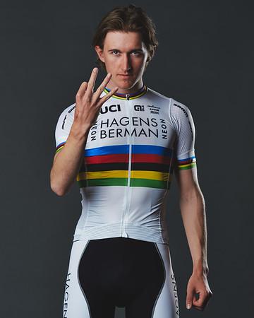 3x World Time Trial Champion, Mikkel Bjerg, 2019. (Davey Wilson)
