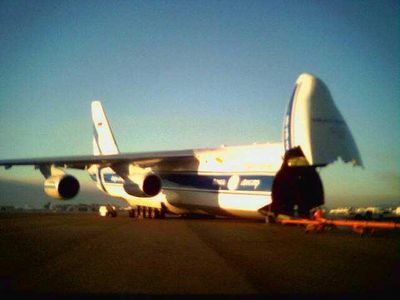 Russian AN-124 (Crappy cell phone camera picture)