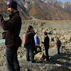 Admiring the Glacier lake