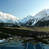 View from the Hermitage looking towards Mt Cook