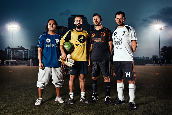 The founders of NYC Footy soccer league, 2011.