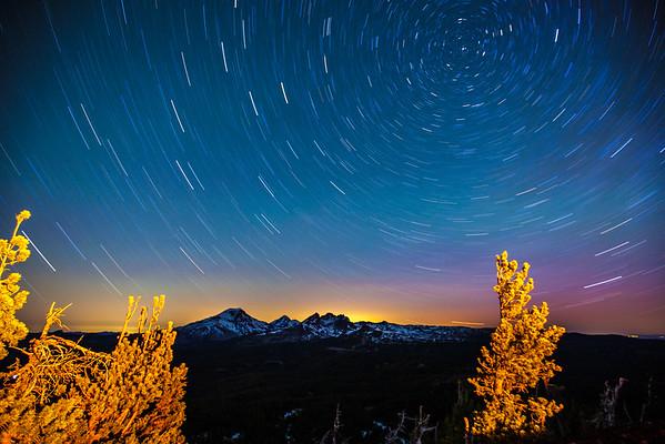 Tumalo Mountain Star Trails