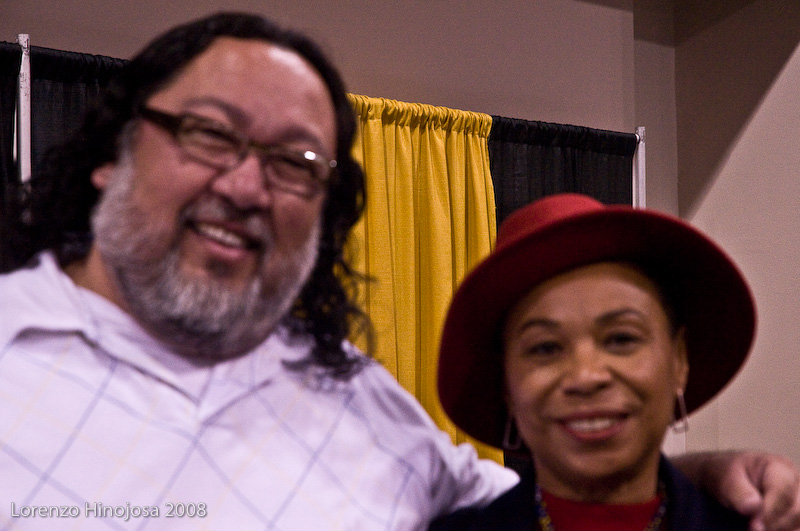 Okay, focus is not too good, but that's me and Barbara Lee.