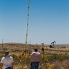 Surveyors battle 40 MPH winds in west Texas.