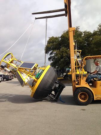 Putting buoy upright