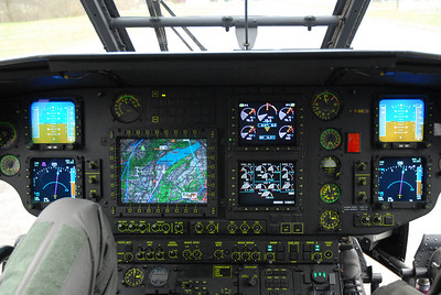 flight deck of Swiss Air Force Cougar