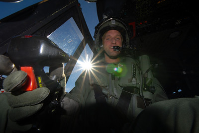 Juri at the controls of a AS 332 Super Puma
