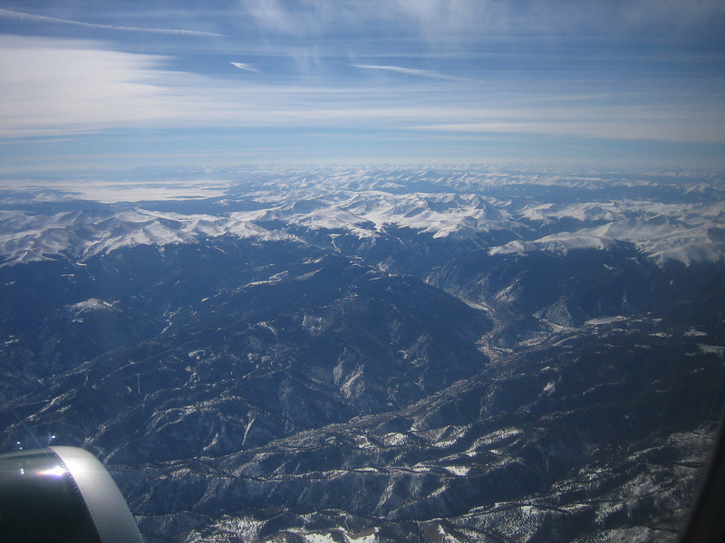 Flying over the Colorado Mountains<br /> Feb 18, 2008