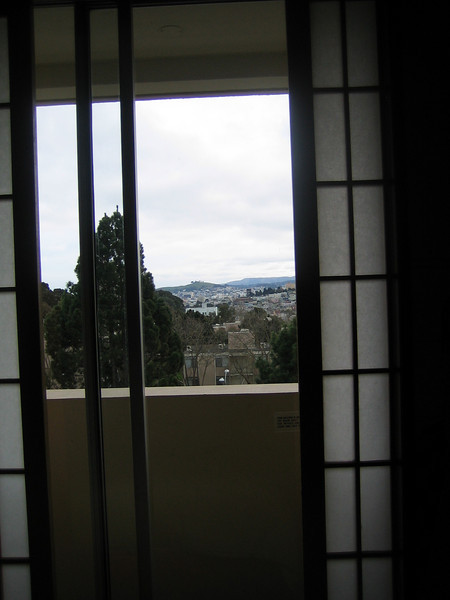 The room at Hotel Kabuki and view to the... southwest?