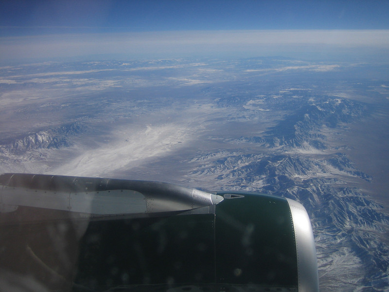 Flying over Basin and Range region, Utah<br /> Feb 18, 2008