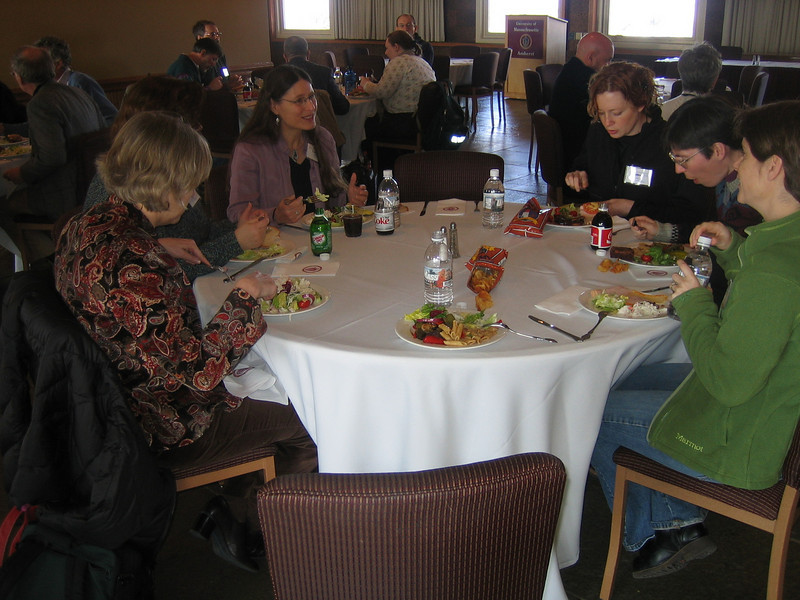 Lunch at Cutting Edge workshop at U Mass, Amherst, MA Feb 12, 2008