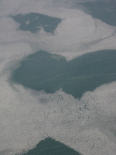 Flying over Lake Michigan Feb 10, 2008 near Chicago, IL