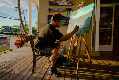 Ernest Young, born and raised on the Big Island of Hawaii, got into art at an early age. He began drawing when he was 8 years old, and not long after, he picked up his first paintbrush.