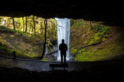 Shellburg Falls Silhouette