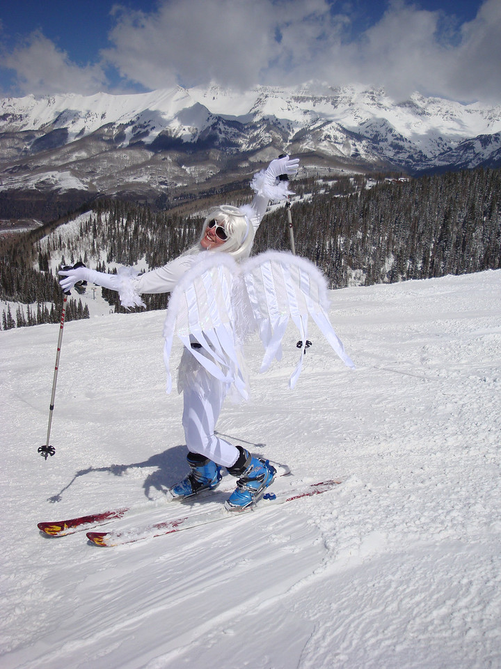 """Closing Day at Telluride! I had speakers playing """"She's no Angel"""" by the New Riders of the Purple Sage as I skied down the runs :)"""