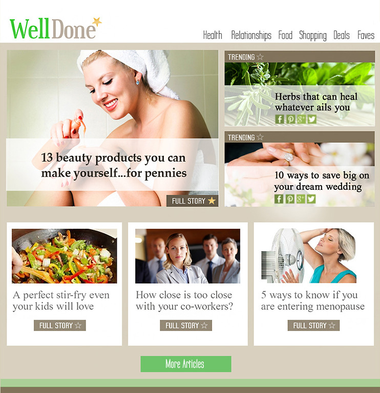 Web Treatment for Well Done