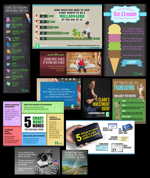 Infographic design for social and web