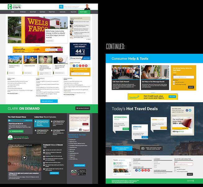 Clark.com home page - June 2016