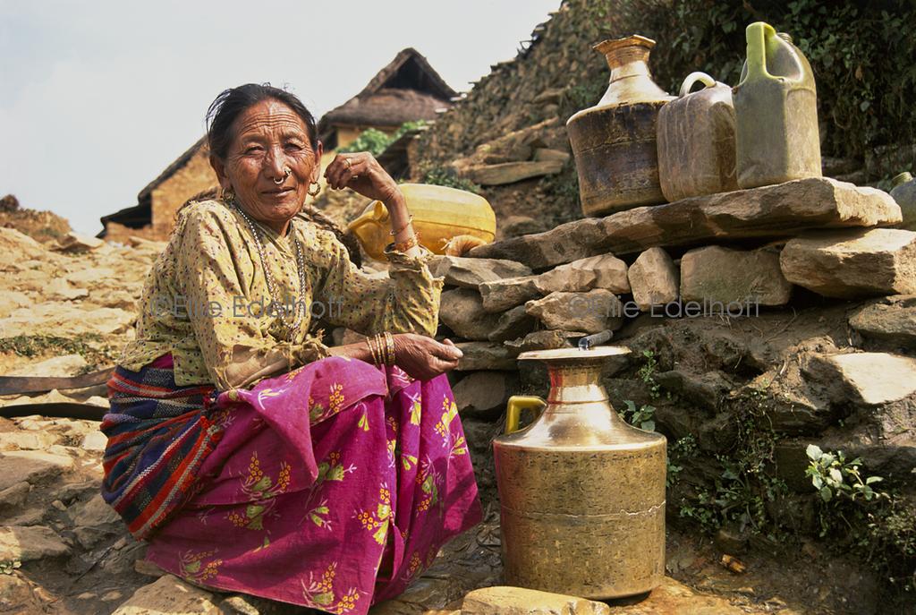 Filling the Water Pots - Annapurna Region, Nepal