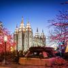 LDS Salt Lake City Temple during Christmas Time, Salt Lake City, UT