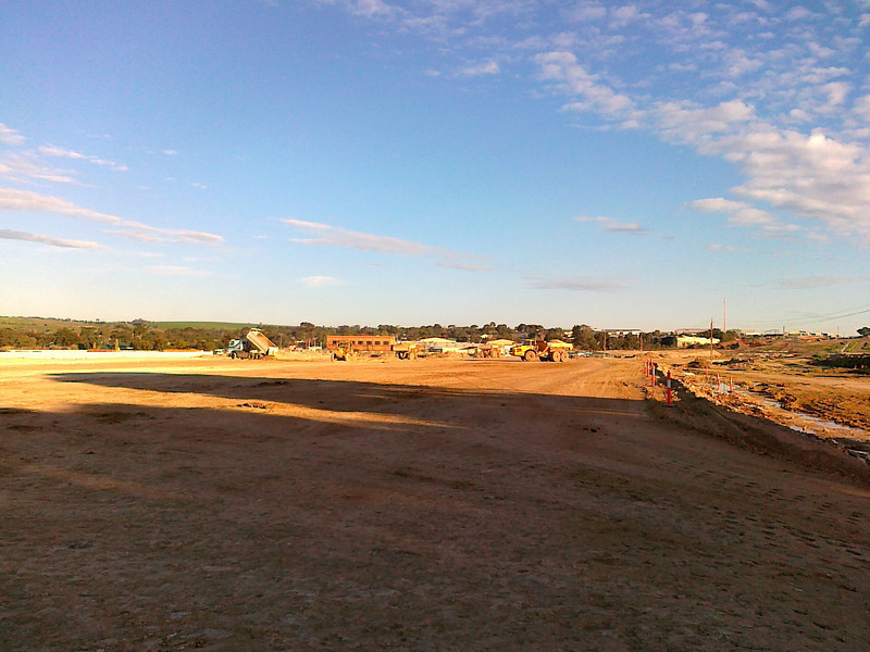 Earthworks in the Depot area nearing completion
