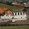 Reinforced Earth retaining wall being erected at Old Honeypot Road Bridge