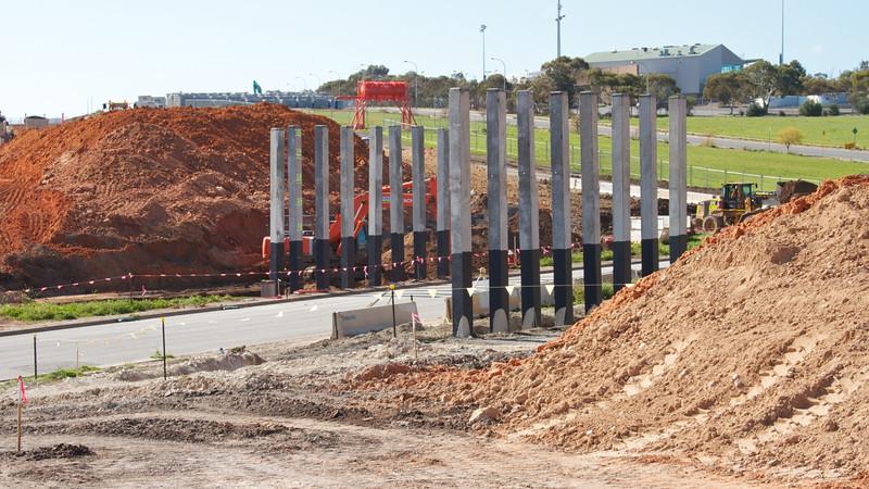 Piles for Old Honeypot Road Bridge