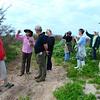 Dee Williams, Jennifer White, Mike Williams, Barbara Van Horn, Karen Barton, Brigid Berger, Kimberley Mason and Allan Berger take a quick birding hike.<br /> <br /> (Photo: Peggy Wilkinson)