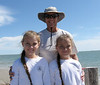 Nancy Posey (daughter of Chester Smith) with her two grandchildren, Madison and Sierra.<br><em>Photo credit:  Lynn Travis</em>