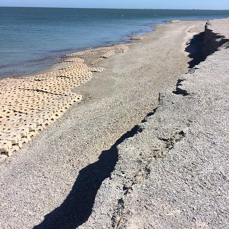 Erosion along North End