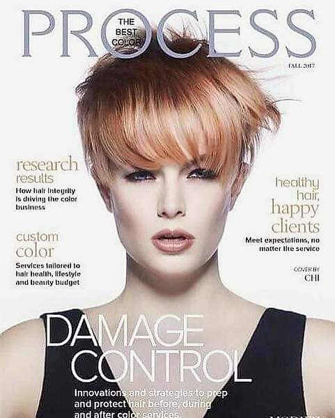 My artistry featured on the cover magazine, The Best Color Process