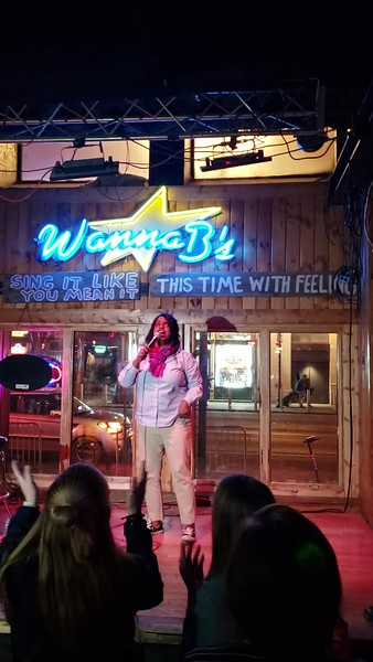 Jackye Singing Karaoke at Wanna B's (03-19-19)