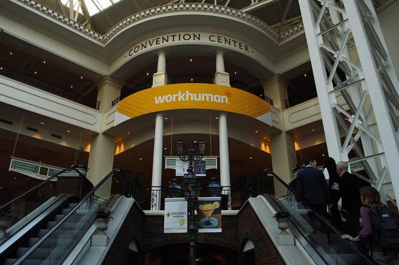 WorkHuman Banner at the Oprey Convention Center (03-19-19)