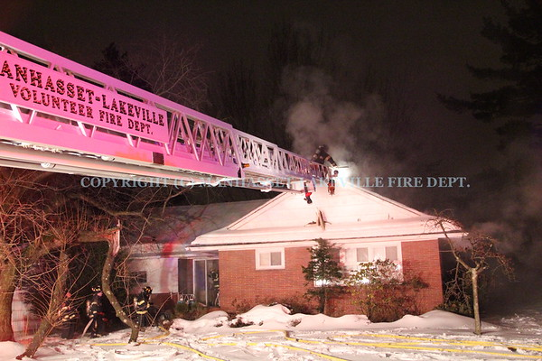 Manhasset-Lakeville F.D. Responds To Attic Fire In Lake Success