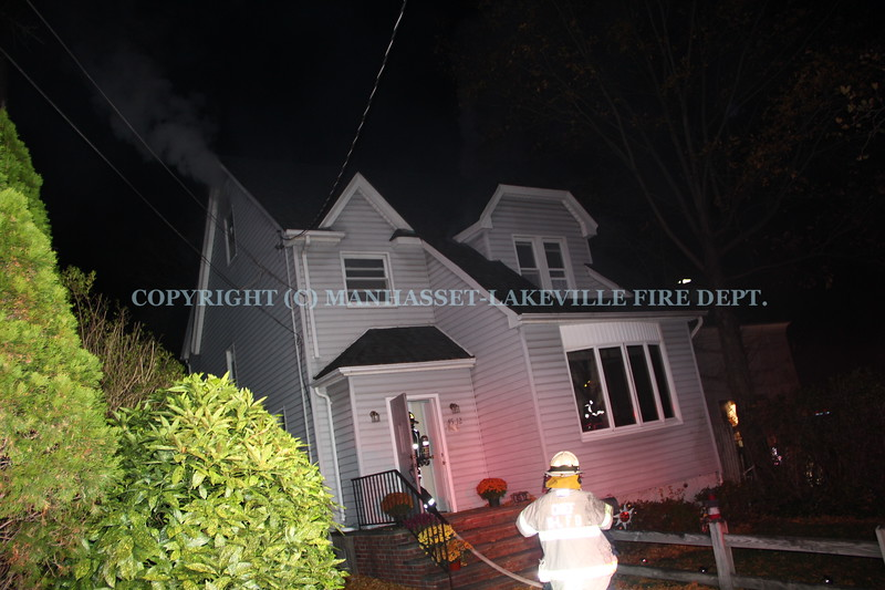 M-LFD Extinguishes Attic Fire in Great Neck Home