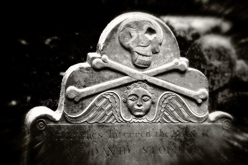 Memento Mori: Gravestone, St. Philips Episcopal Church, Charleston, South Carolina