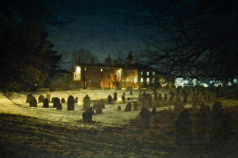 Salem Landmarks: Howard Street Burial Ground and Old Jail, Salem, Essex County, Massachusetts