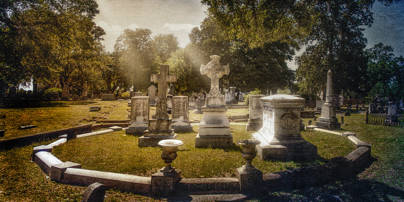Charleston Cemeteries: 19th Century Tombstones in Magnolia Cemetery, Charleston, South Carolina