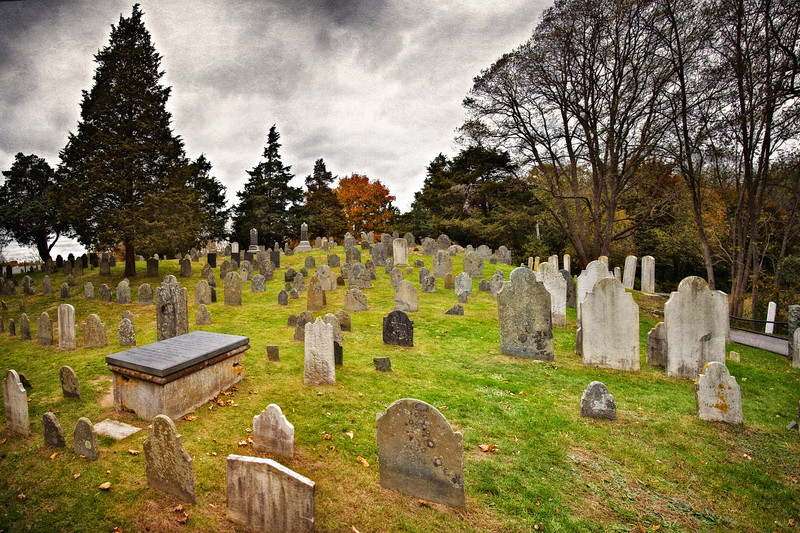 Cape Cod Landmarks: Cobb's Hill Cemetery, Barnstable, Barnstable County, Cape Cod, Massachusetts