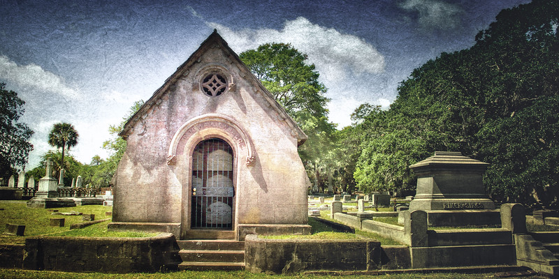 Charleston Cemeteries: 19th Century Crypt in Magnolia Cemetery, Charleston, South Carolina