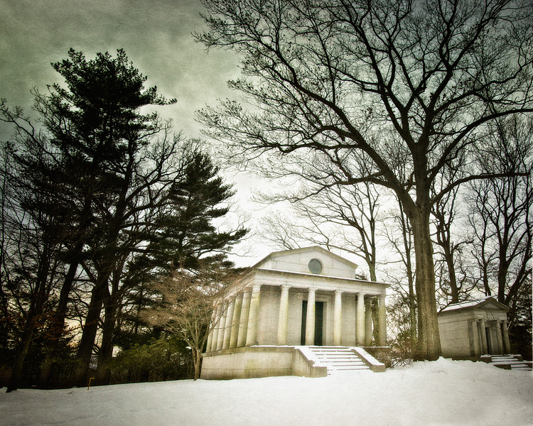 Pillared Mausoleum. Old Dutch Church of Sleepy Hollow Churchyard and Sleepy Hollow Cemetery, Westchester County, New York