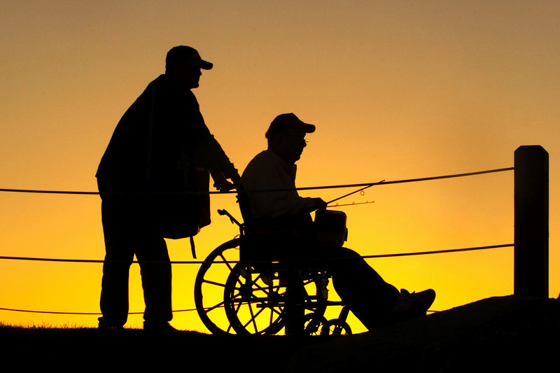 Fishermen going home at sunset.<br /> <br /> <br /> cropped a bit from the one below, to avoid the sin of centering.  smile