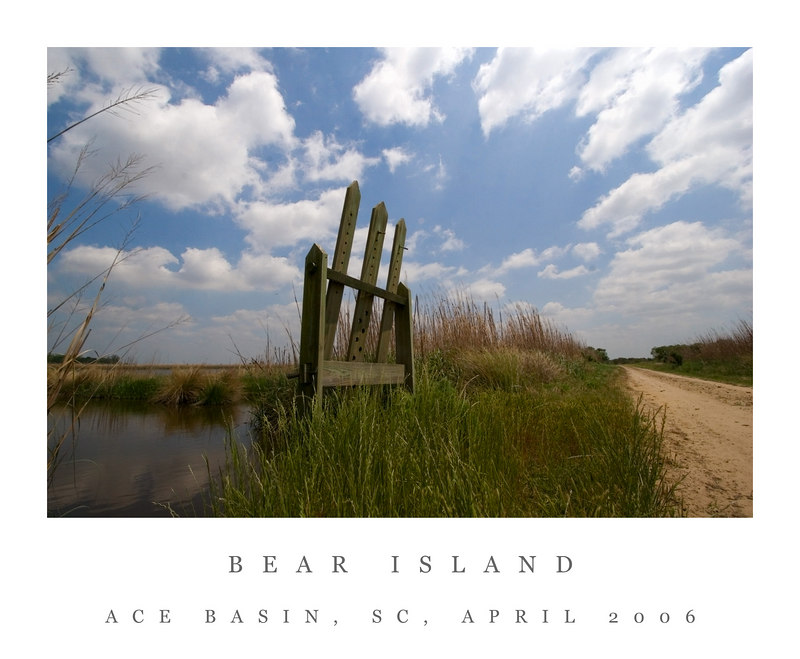 Bear Island<br /> Ace Basin, SC<br /> 4/17/2006<br /> <br /> The gate on the left controls the water levels, often seen on old rice fields.